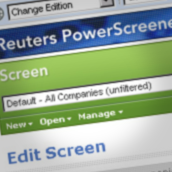 "Reuters ""PowerScreener"""